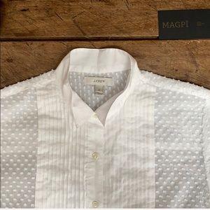 J. Crew Swiss Dot Tuxedo Shirt